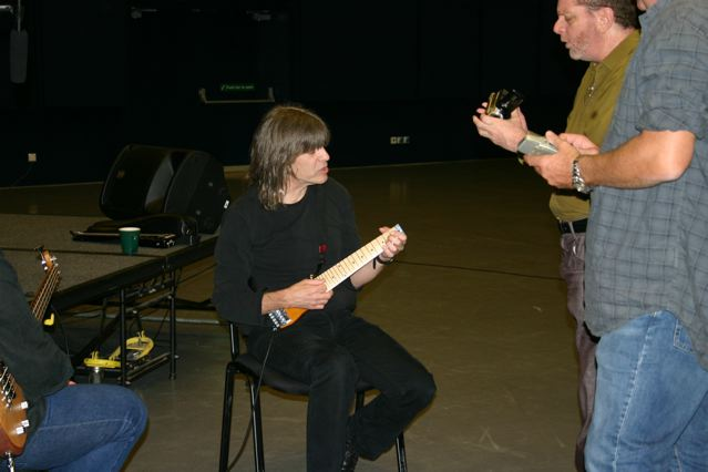 Mike Stern with Lapstick travel guitar